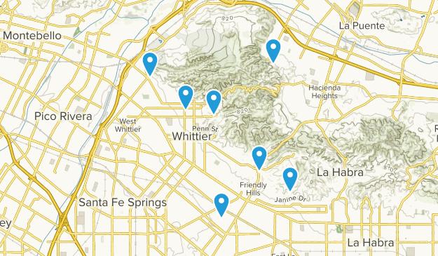 Whittier, California Kid Friendly Map