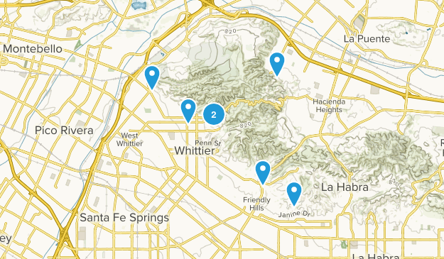 Whittier, California Views Map