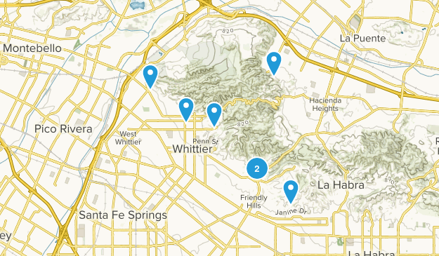 Whittier, California Wildlife Map