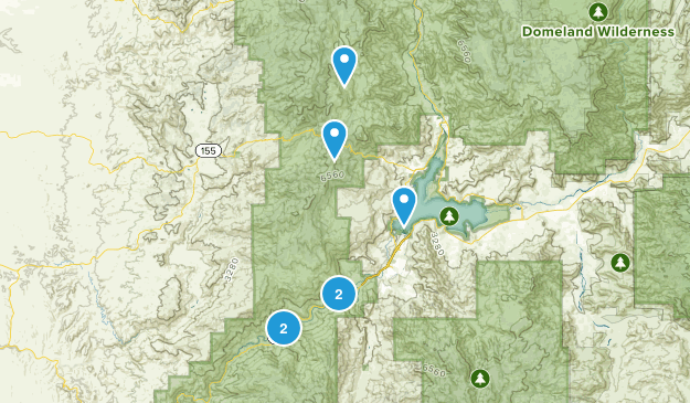 Wofford Heights, California Hiking Map