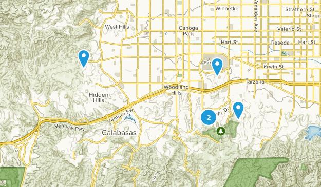 Woodland Hills, California Hiking Map