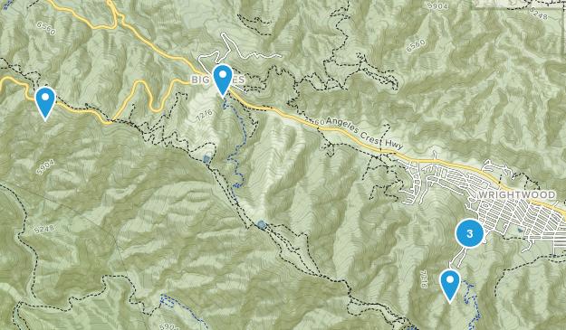 Wrightwood, California Birding Map