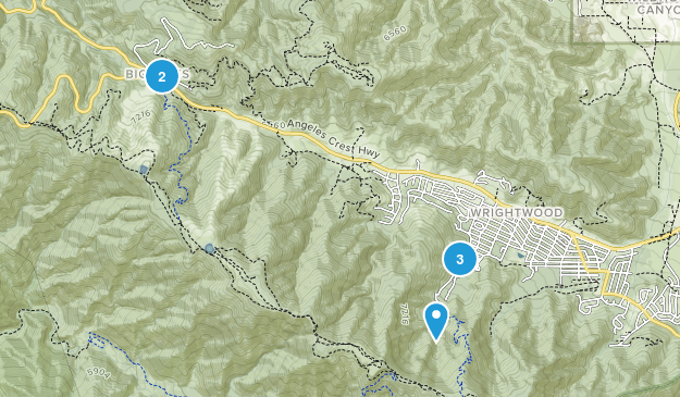 Wrightwood, California Forest Map