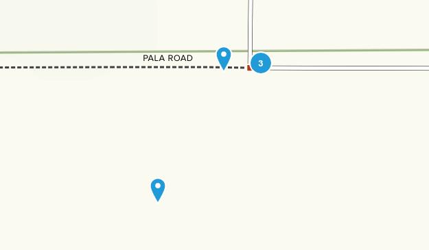 Yontocket, California Trail Running Map
