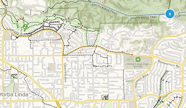 Yorba Linda, California Birding Map