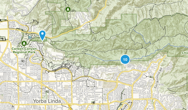 Yorba Linda, California No Dogs Map
