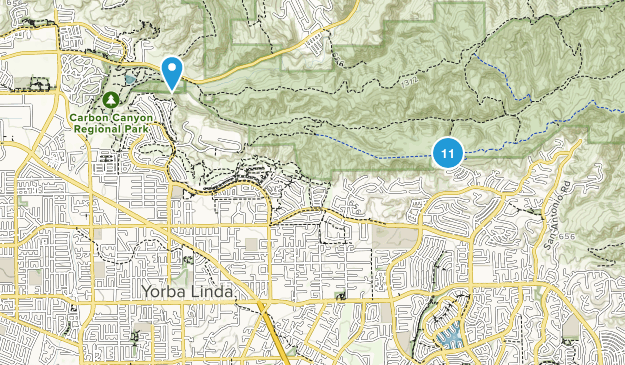 Where Is Yorba Linda California Map.Map Of Trails Near Yorba Linda California Alltrails