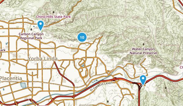Yorba Linda, California Walking Map