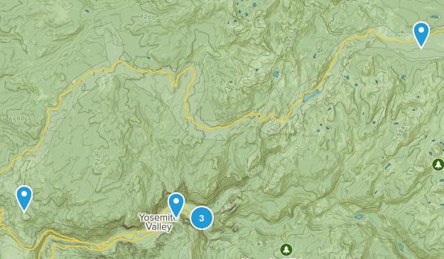 Yosemite Valley, California Backpacking Map