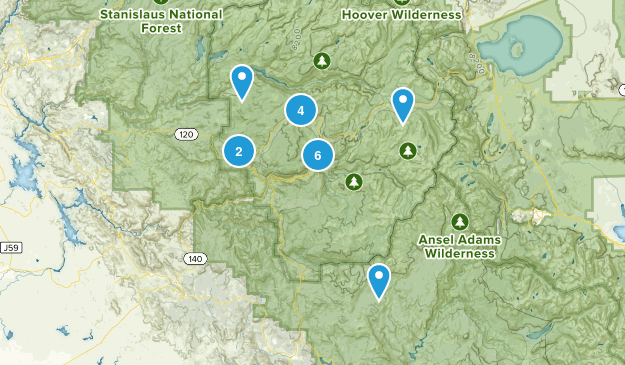 Yosemite Valley, California Nature Trips Map