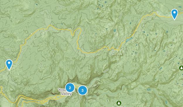 Yosemite Valley, California River Map