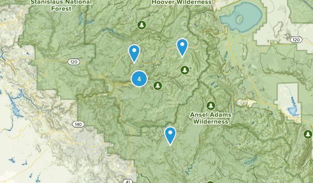 Yosemite Valley, California Trail Running Map