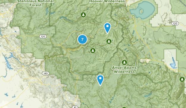 Yosemite Valley, California Wildlife Map