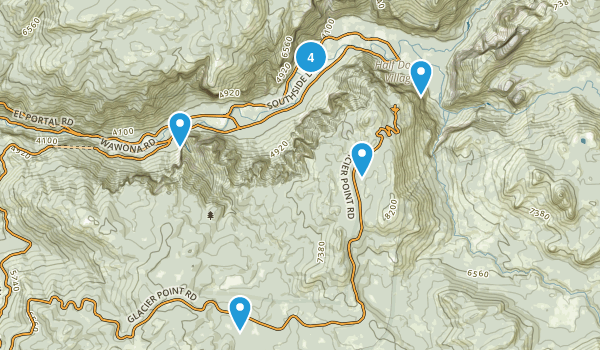 Yosemite Village, California Birding Map