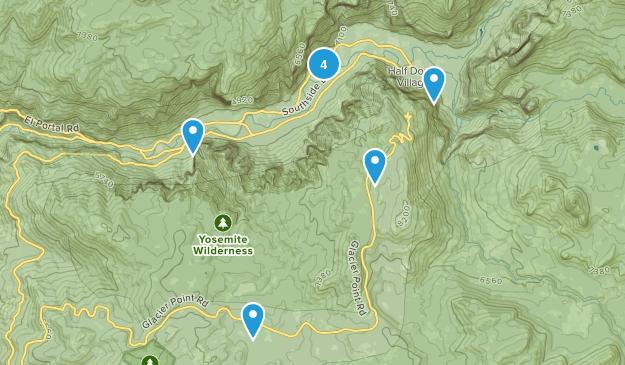 Yosemite Village, California Birding Map
