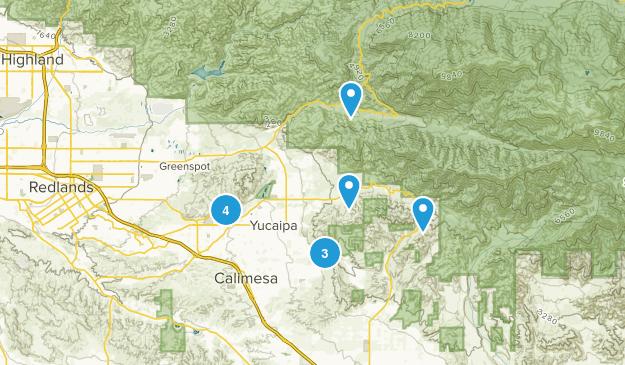 Yucaipa, California Mountain Biking Map