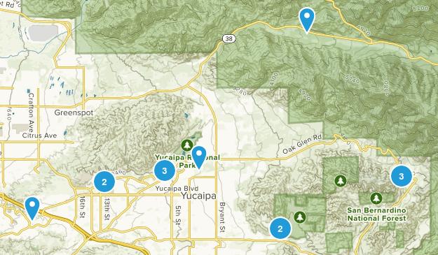 Yucaipa, California Nature Trips Map