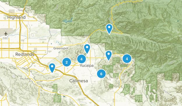 Yucaipa, California Views Map