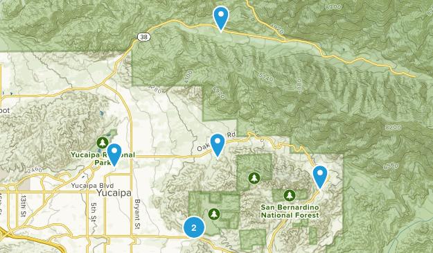 Yucaipa, California Wildlife Map