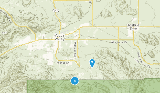 Yucca Valley, California Nature Trips Map