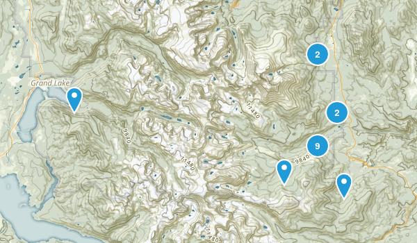 Allenspark, Colorado Hiking Map