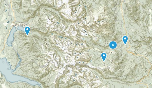 Allenspark, Colorado Lake Map