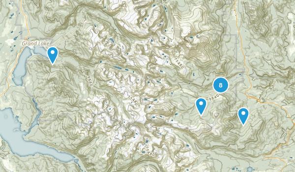 Allenspark, Colorado River Map