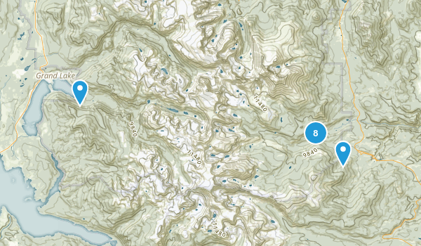 Allenspark, Colorado Waterfall Map