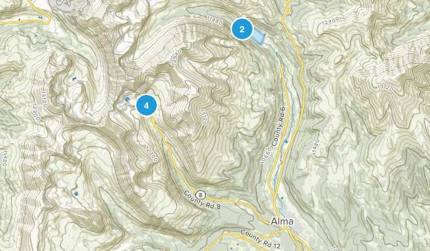 Alma, Colorado Hiking Map