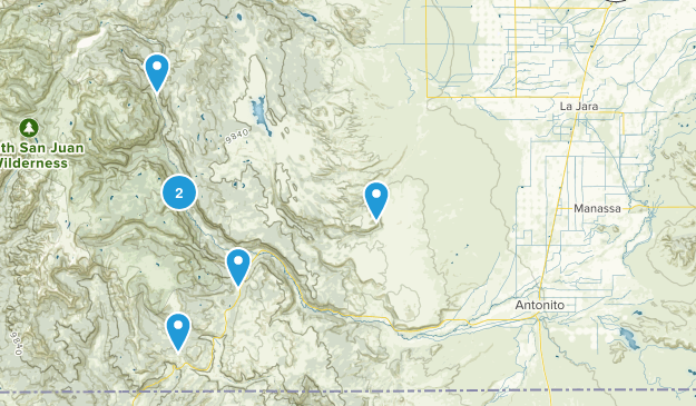 Antonito, Colorado Hiking Map