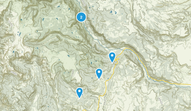 Antonito, Colorado Lake Map