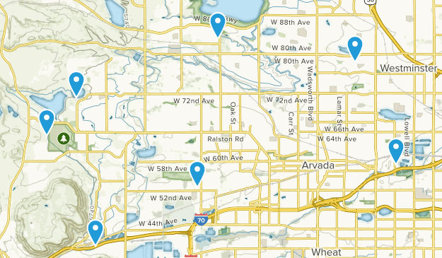 Arvada, Colorado Bird Watching Map