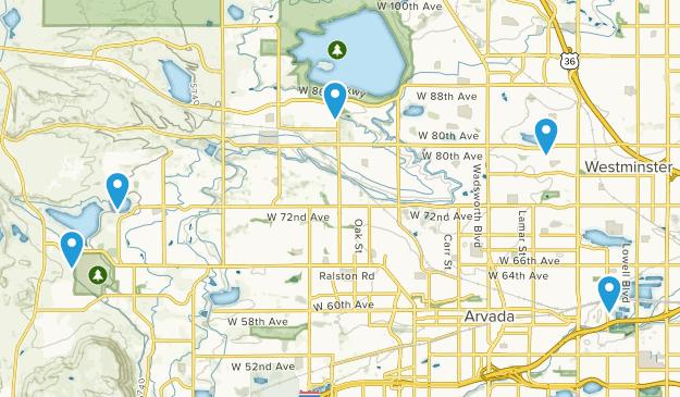 Arvada, Colorado Lake Map