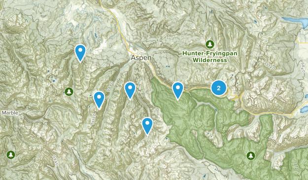 Aspen, Colorado Fishing Map