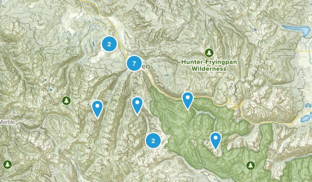 Aspen, Colorado Mountain Biking Map
