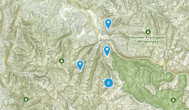 Aspen, Colorado Snowshoeing Map
