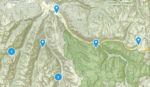 Aspen, Colorado Waterfall Map