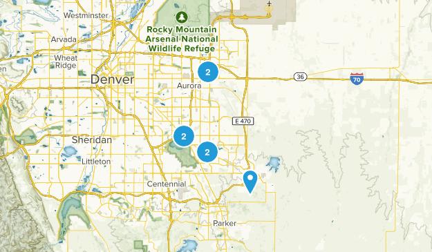 Aurora, Colorado Trail Running Map