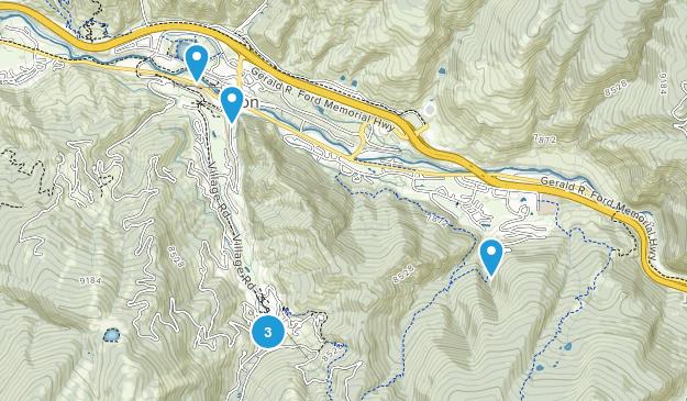 Avon, Colorado Dogs On Leash Map