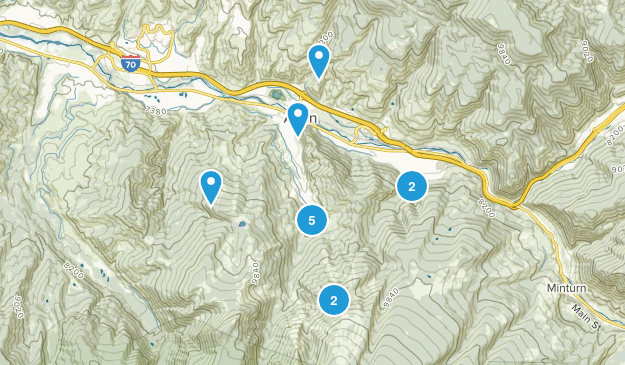 Avon, Colorado Forest Map