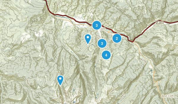 Avon, Colorado Hiking Map