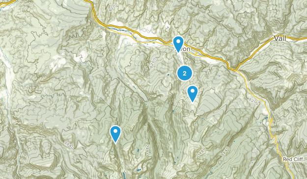 Avon, Colorado Lake Map