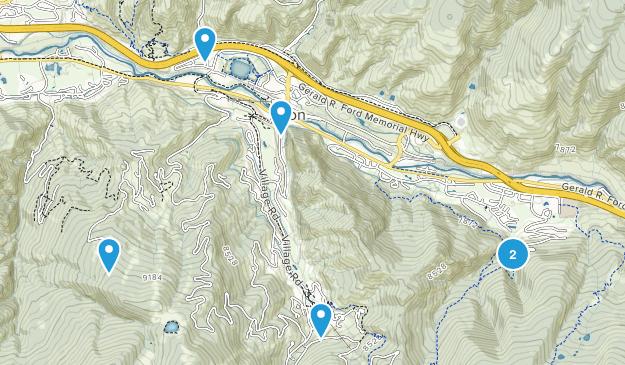 Avon, Colorado Mountain Biking Map