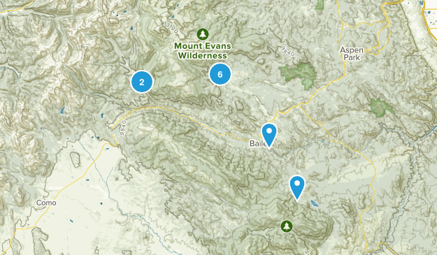 Bailey, Colorado Forest Map
