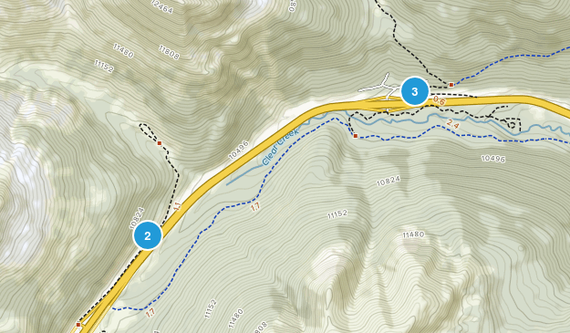 Bakerville, Colorado Hiking Map