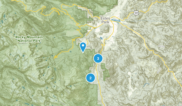 Beaver Point, Colorado Hiking Map