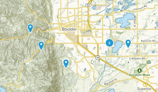 Boulder, Colorado Wheelchair Friendly Map