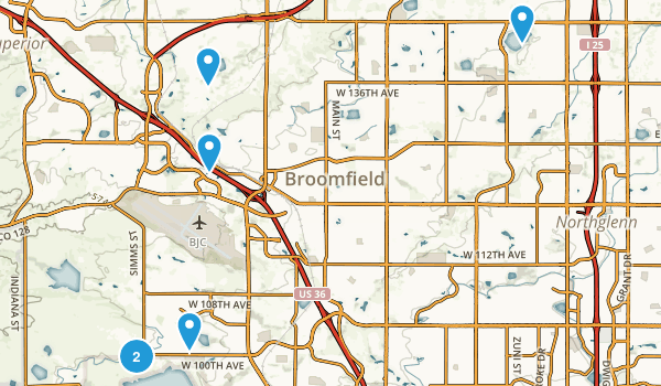 Broomfield, Colorado Birding Map