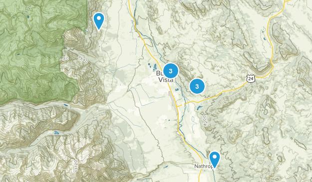 Buena Vista, Colorado Mountain Biking Map