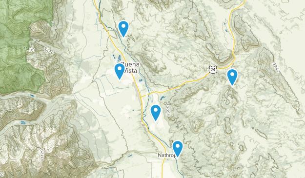 Buena Vista, Colorado Off Road Driving Map